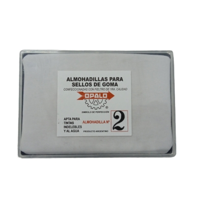 Almohadilla N°2 Fieltro Opalo Sellos T. Indeleble 9 x16cm
