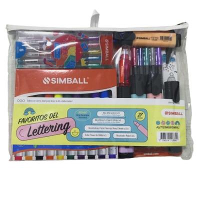Kit Lettering Simball Maxi Marcadores (x27 Piezas)