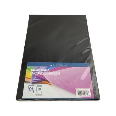 Tapas Oficio P/ Anillar Encuadernación Espiralado Negro (x50)
