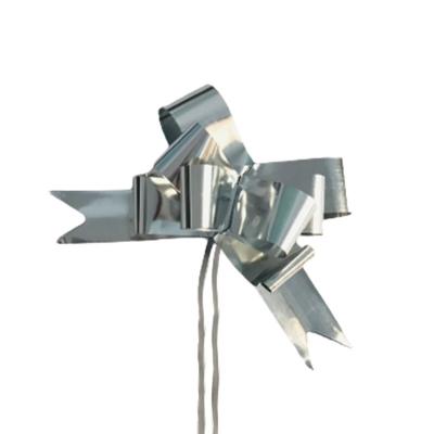 Moños Mágicos Plateados N°50 P/ Regalo Directo Fabrica (x50)