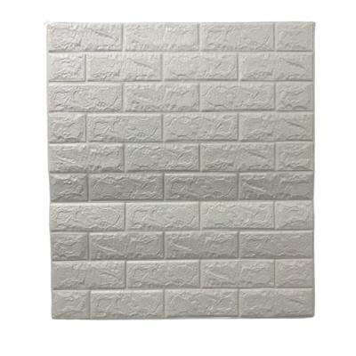 Placa 3D Autoadhesiva 70x77 cm Ladrillo Rústico Blanco (x Unidad)