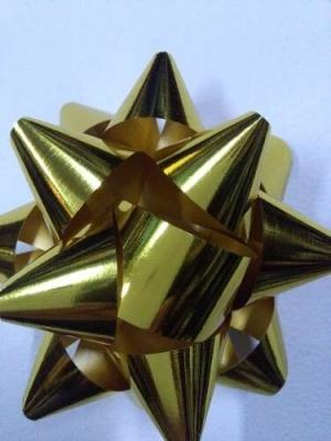 Moños Estrella Dorados N°10 P/ Regalo Directo Fabrica (x8)