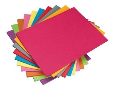 Cartulina 44.3x63.3 cm Colores A Elección (Pack x20)