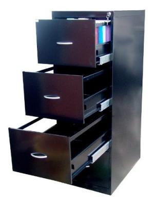 Fichero Archivo Metalico 4 Cajones P/ Carp Colgante Cerradura