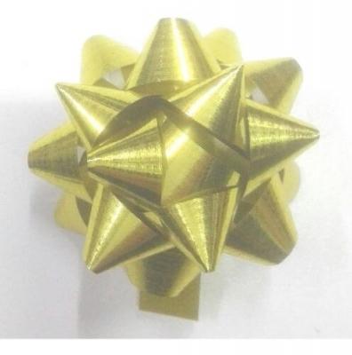 Moños Estrella Dorado o Plateado N°4 C/ Adhesivo (Paq x50)