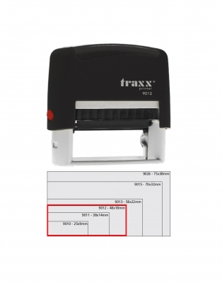 Sello Automático Traxx 9012 Negro
