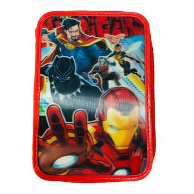 Cartuchera Canopla 2 Pisos Avengers Vengadores Lenticular