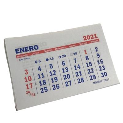 Almanaque Calendario 2021 Chico 15x10 cm (x Unidad)