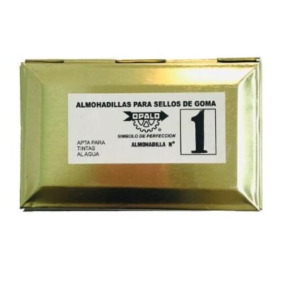 Almohadilla N°1 Fieltro Opalo Sellos T. Indeleble 11x7cm