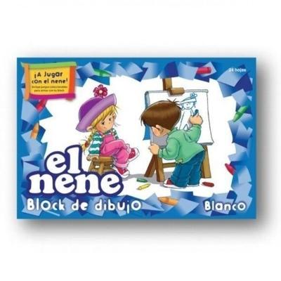 Block. De Dibujo N°5 Blanco El Nene (24 Hojas)