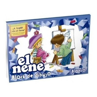 Block De Dibujo N°6 Blanco El Nene  (24 Hojas)