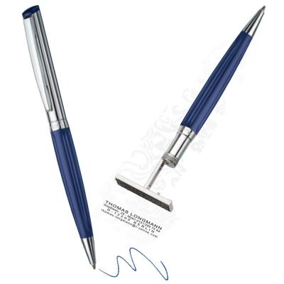 Lapicera Con Sello Heri Diag. Azul Cod. 6231 Ind. Alemana