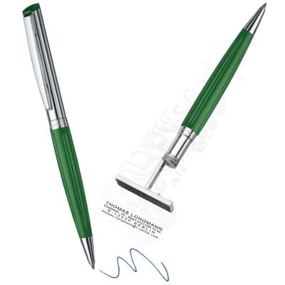 Boligrafo Con Sello Heri Diag. Verde Cod. 6291 Ind. Alemana