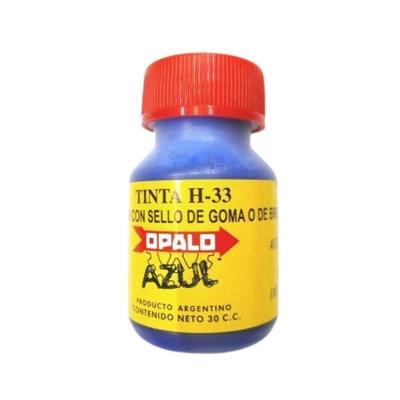 Tinta Sellos Indeleble Secado Rapido Opalo H33 X 30cc Negro.