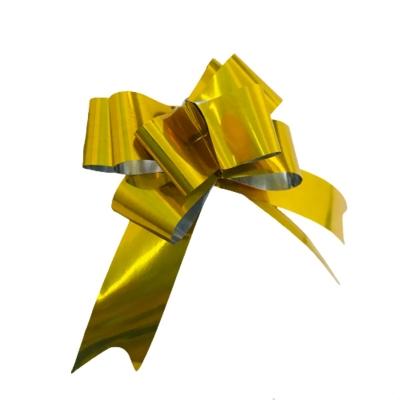 Moños Mágicos Dorados N°25 P/ Regalo (Caja x100 Paq x100/ 10.000)