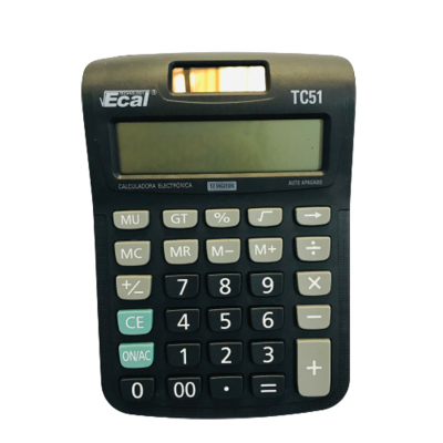Calculadora Ecal Tc51 12 Digitos Solar Comercio Escritorio