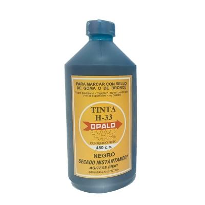 Tinta Sellos Indeleble Secado Rápido Opalo H33 (450cc Negro)