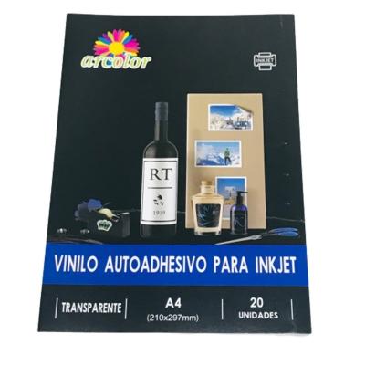 Papel Adhesivo A4 Vinilo Transparente (x Unidad)